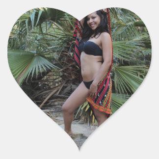 Hispanic Beauty Heart Sticker