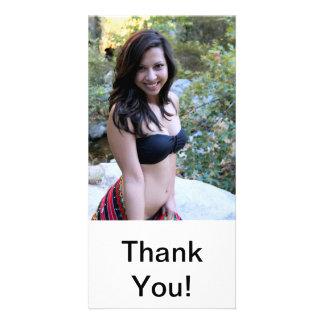 Hispanic Beauty Customized Photo Card