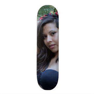 Hispanic Beauty Custom Skateboard