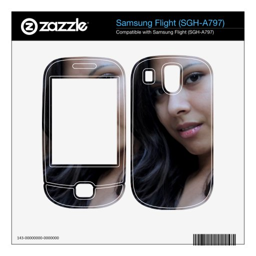 Hispanic Beauty Decal For Samsung Flight