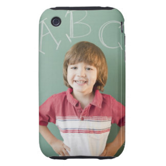 Hispanic boy standing underneath abcs on tough iPhone 3 case