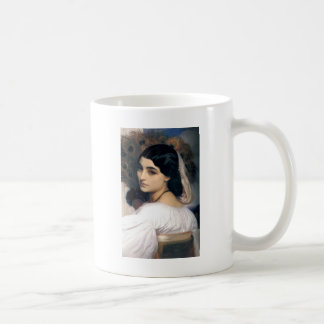 Hispanic lady woman antique painting coffee mug