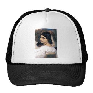 Hispanic lady woman antique painting trucker hat