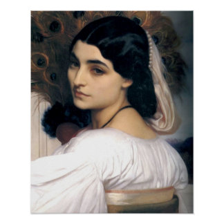 Hispanic lady woman antique painting poster