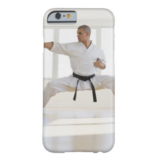 Hispanic male karate black belt in fighting barely there iPhone 6 case