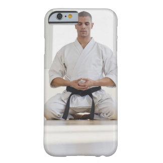 Hispanic male karate black belt meditating barely there iPhone 6 case