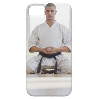 Hispanic male karate black belt meditating iPhone SE/5/5s case