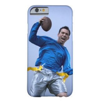 Hispanic man throwing a football barely there iPhone 6 case