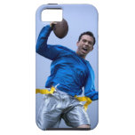Hispanic man throwing a football iPhone 5 covers