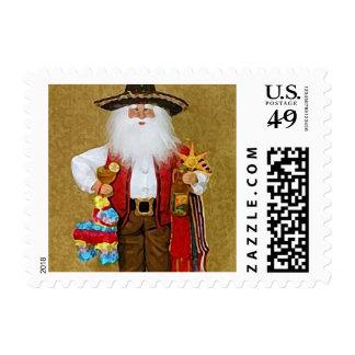 Hispanic Mexican Southwestern Texan Santa Claus Postage