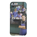 Hispanic student standing in chemistry lab barely there iPhone 6 case