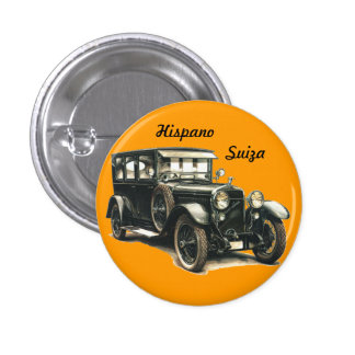 HISPANIC SWITZERLAND CLASSIC CAR PINBACK BUTTONS