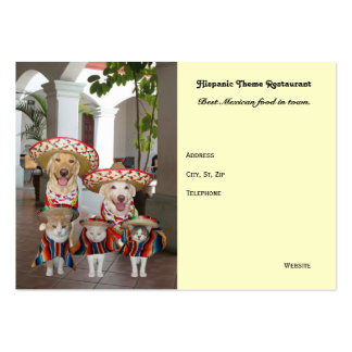 Hispanic Theme Business Large Business Cards (Pack Of 100)
