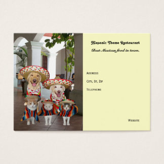 Hispanic Theme Business Business Card
