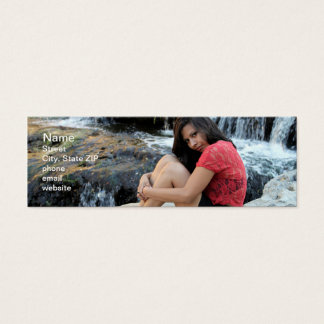Hispanic Woman Creek Mini Business Card