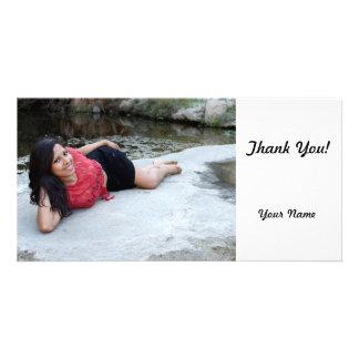 Hispanic Woman Creek Photo Cards