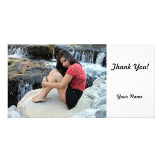 Hispanic Woman Creek Photo Card Template