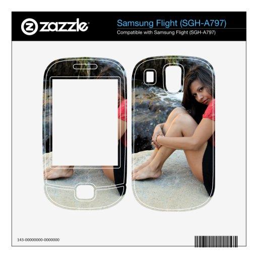 Hispanic Woman Creek Samsung Flight Decals