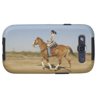 Hispanic woman riding horse 2 samsung galaxy SIII case