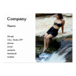 Hispanic Woman Waterfall Large Business Cards (Pack Of 100)