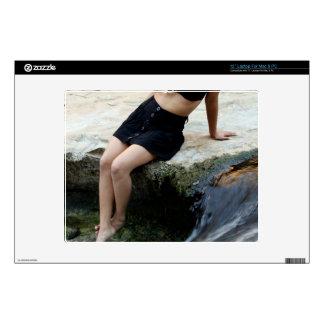 "Hispanic Woman Waterfall 12"" Laptop Decals"