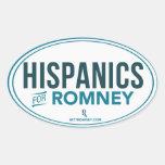 Hispanico para Mitt Romney 2012 (pegatina oval)