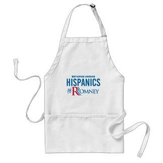 Hispanico para Romney Delantales