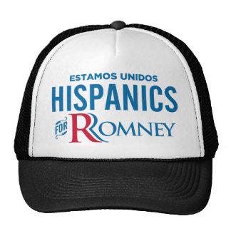 Hispanico para Romney Gorras