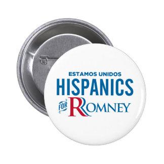 Hispanico para Romney Pin Redondo De 2 Pulgadas