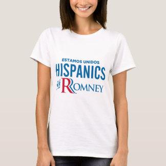 Hispanico para Romney Playera