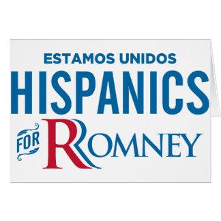 Hispanico para Romney Tarjeta De Felicitación