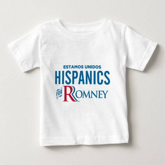 Hispanics for Romney Baby T-Shirt