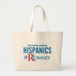Hispanics for Romney Canvas Bag