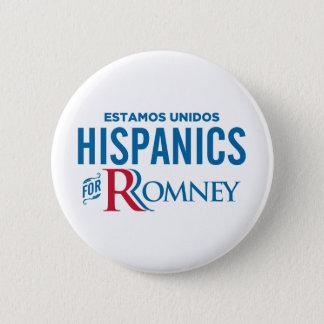 Hispanics for Romney Button