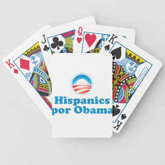 Hispanics por Obama Bicycle Playing Cards