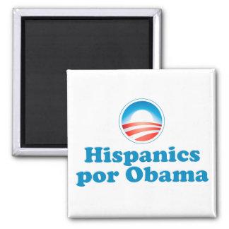 Hispanics por Obama Magnet