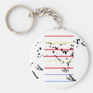 Hispter Dog Keychain