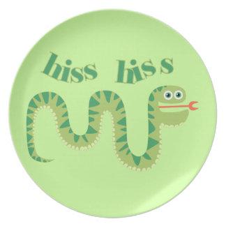 Hiss Hiss Snake Melamine Plate
