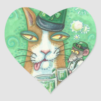 Hiss N' Fitz Cat Rat ST. PATRICK'S DAY STICKERS