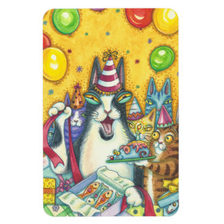 Hiss N' Fitz Cats BIG BIRTHDAY MAGNET *Customize