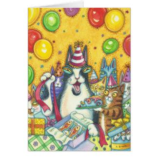Hiss N' Fitz Cats HAPPY BIRTHDAY NOTE CARD