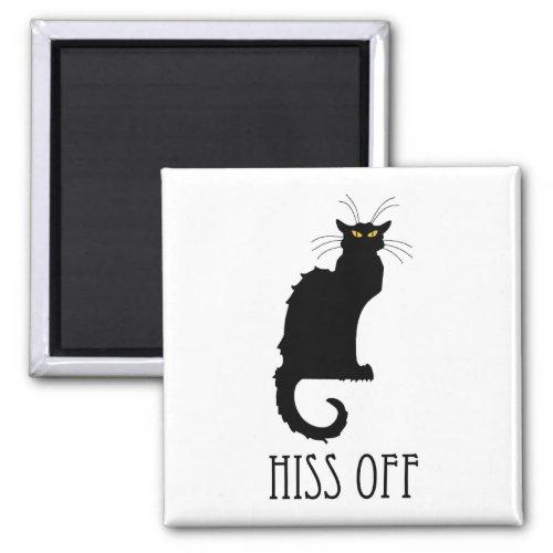 Hiss Off Cat Funny Magnet