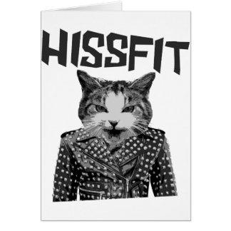 Hissfit Rebel Misfit Kitty Cat Card