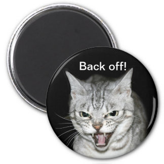 Hissing cat 2 inch round magnet