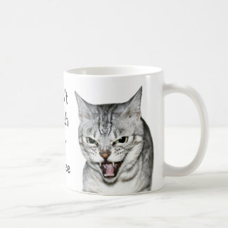 Hissing cat coffee mug