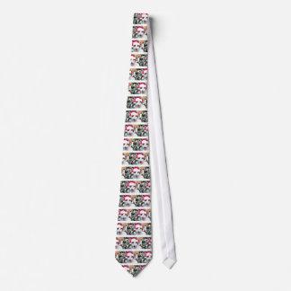Hissing Cat in a Santa Hat Neck Tie