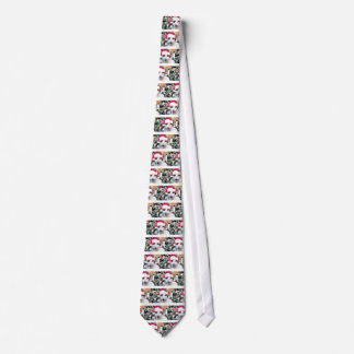 Hissing Cat in a Santa Hat Tie