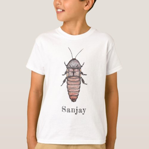 Hissing Cockroach Name T_Shirt Child
