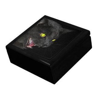 Hissing Grey Cat gift box