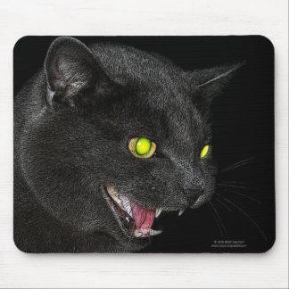Hissing Grey Cat mousepad